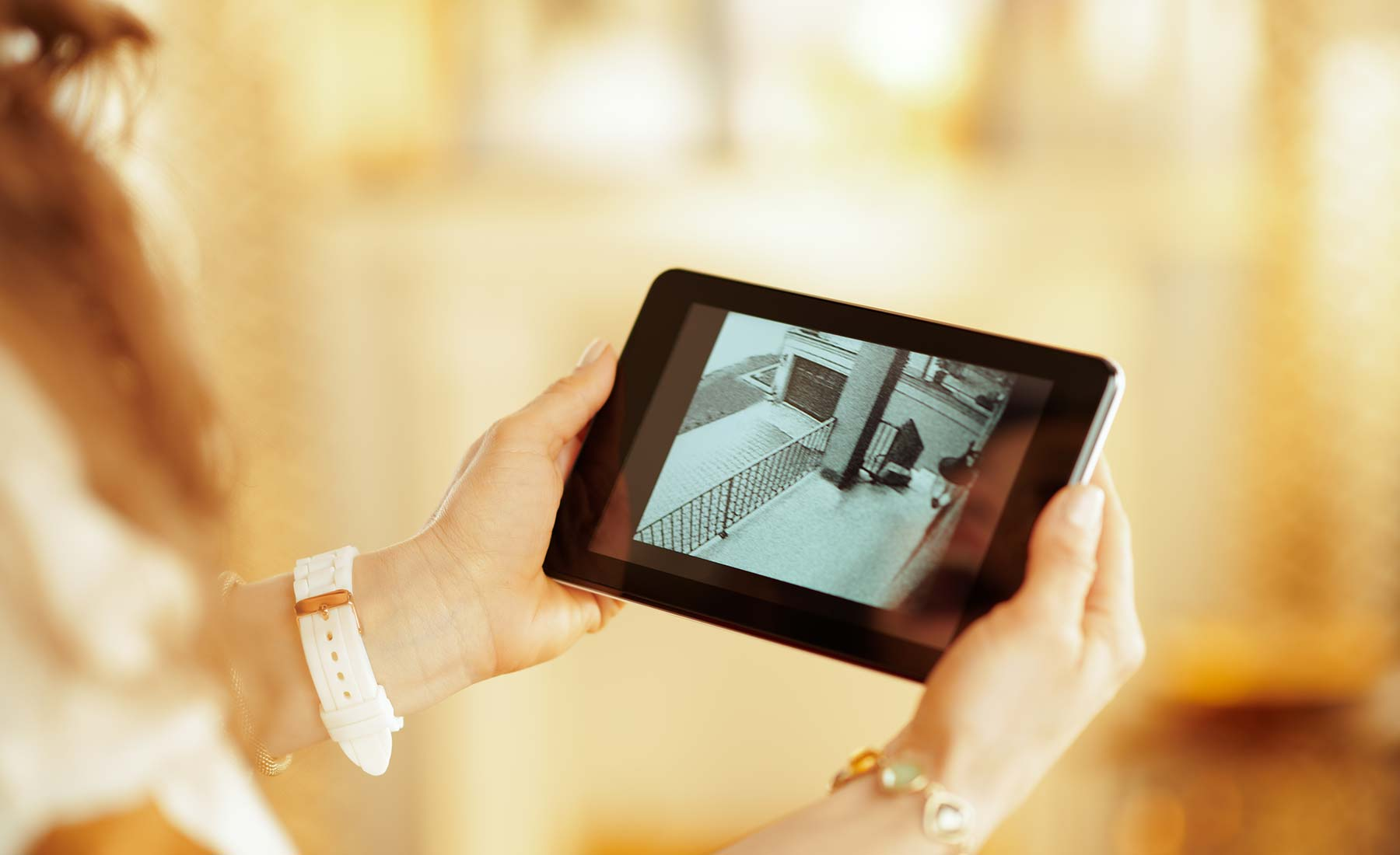 Video surveillance on tablet